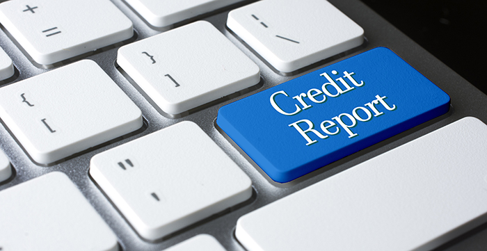 credit report button on computer keyboard